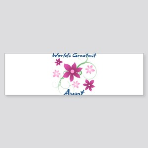World's Greatest Aunt (Flowery) Bumper Sticker