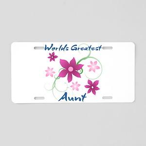 World's Greatest Aunt (Flow Aluminum License Plate