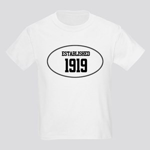 Established 1919 Kids Light T-Shirt