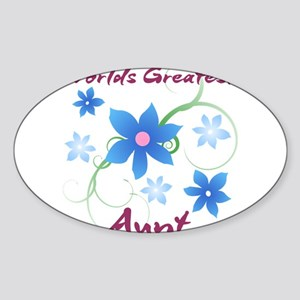 World's Greatest Aunt (Flowery) Sticker
