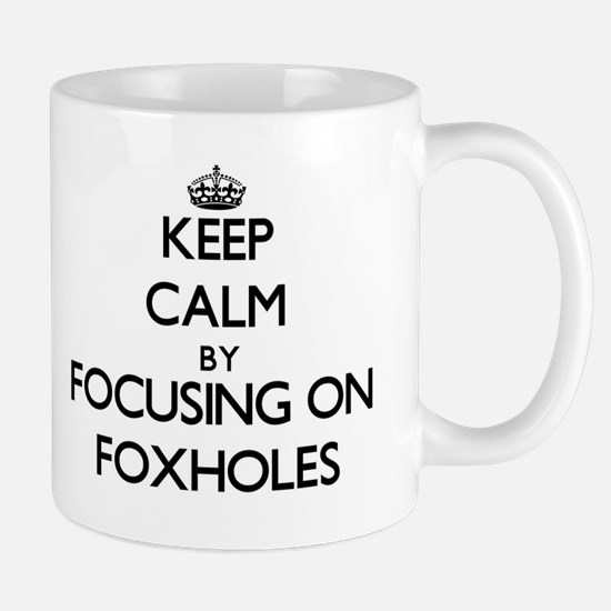 Keep Calm by focusing on Foxholes Mugs