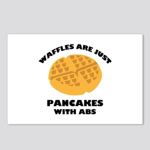 Waffles Are Just Pancakes With Abs Postcards (Pack