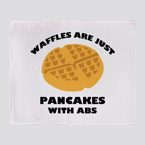 Waffles Are Just Pancakes With Abs Stadium Blanket