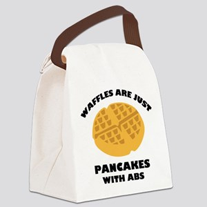 Waffles Are Just Pancakes With Abs Canvas Lunch Ba