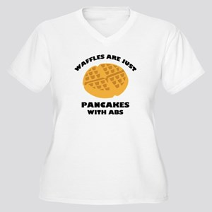 Waffles Are Just Pancakes With Abs Women's Plus Si