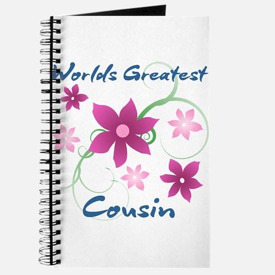World's Greatest Cousin (Flowery) Journal