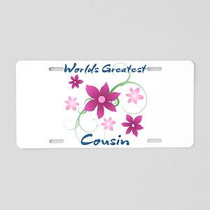 World's Greatest Cousin (Fl Aluminum License Plate