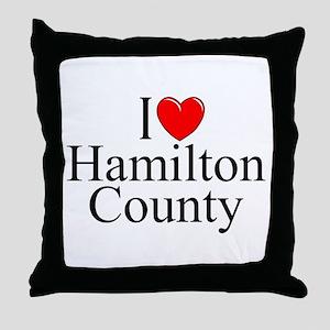 """""""I Love Hamilton County"""" Throw Pillow"""