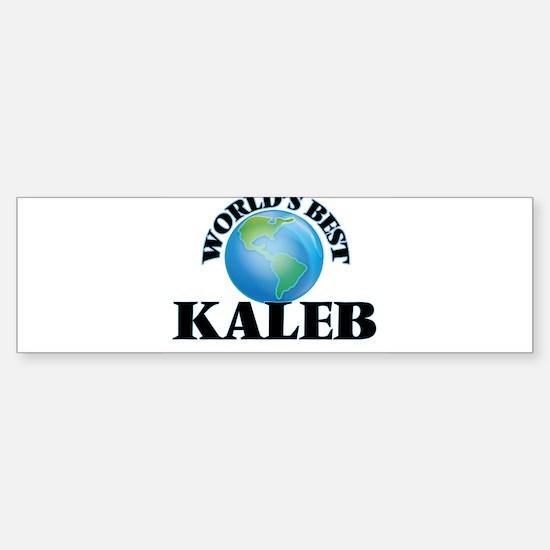 World's Best Kaleb Bumper Bumper Bumper Sticker