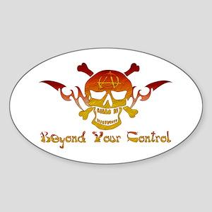 Anarchist Skull Oval Sticker