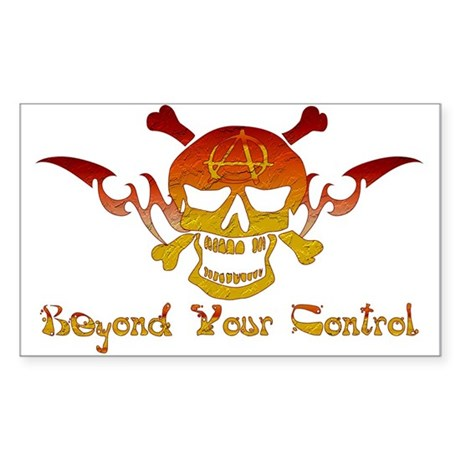 Anarchist Skull Rectangle Sticker