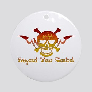 Anarchist Skull Ornament (Round)