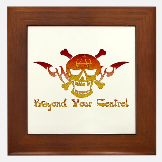 Anarchist Skull Framed Tile