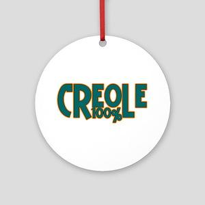 100% Creole Ornament (Round)