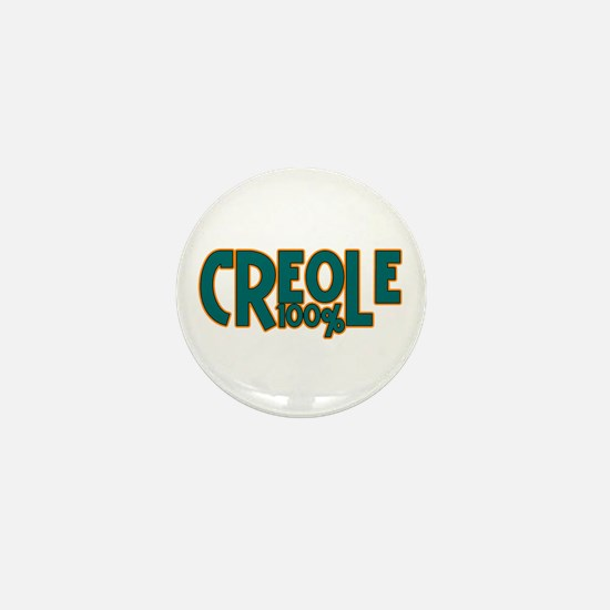 100% Creole Mini Button