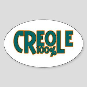 100% Creole Oval Sticker
