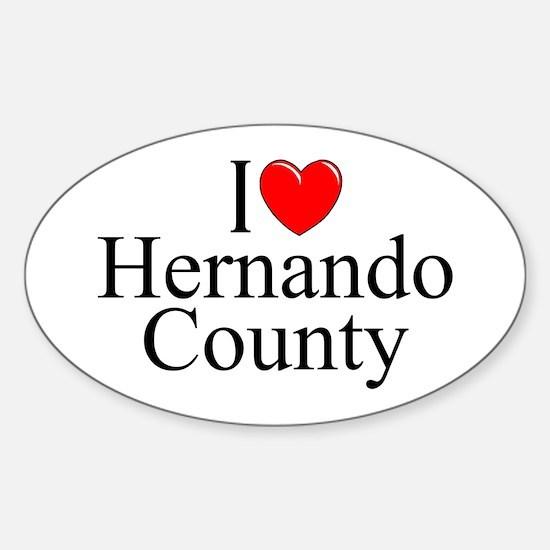 """I Love Hernando County"" Oval Decal"