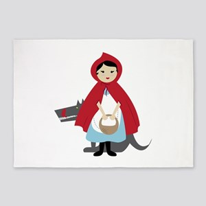 Red Riding Hood 5'x7'Area Rug