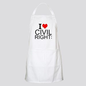 I Love Civil Rights Light Apron
