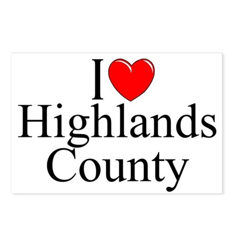 """""""I Love Highlands County"""" Postcards (Package of 8)"""