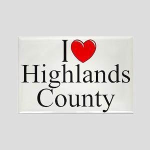 """I Love Highlands County"" Rectangle Magnet"