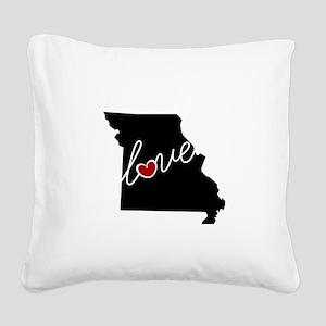 Missouri Love Square Canvas Pillow