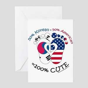 Korean American Baby Greeting Cards