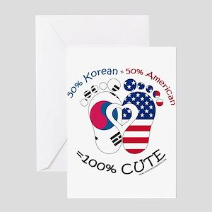 Korean greeting cards cafepress korean american baby greeting cards m4hsunfo