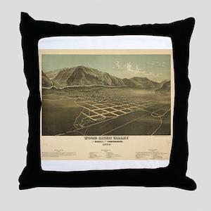 1884.Idaho Falls map Throw Pillow
