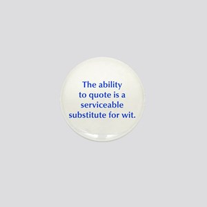 The ability to quote is a serviceable substitute f