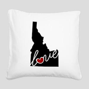 Idaho Love Square Canvas Pillow