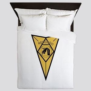 18th Airborne RECONDO Insignia Queen Duvet