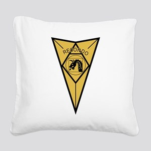 18th Airborne RECONDO Insigni Square Canvas Pillow