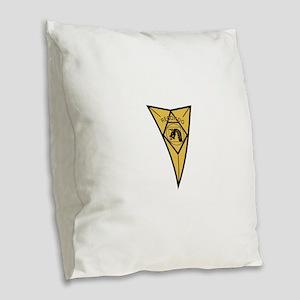18th Airborne RECONDO Insignia Burlap Throw Pillow