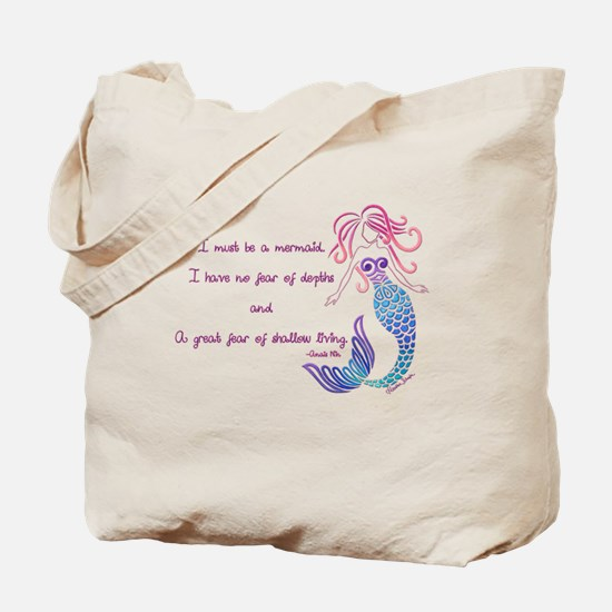 Tribal Mermaid Musings Tote Bag