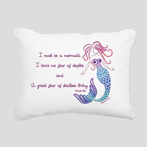 Tribal Mermaid Musings Rectangular Canvas Pillow