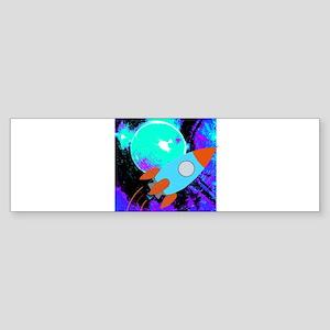 Rocket Abstract Bumper Sticker