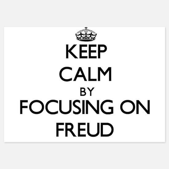 Keep Calm by focusing on Freud Invitations