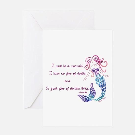 Tribal Mermaid Musings Greeting Cards