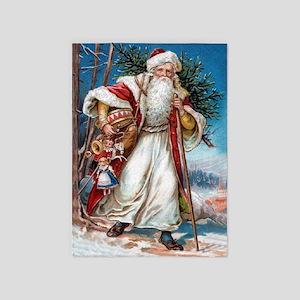 Victorian Santa Claus 5'x7'Area Rug