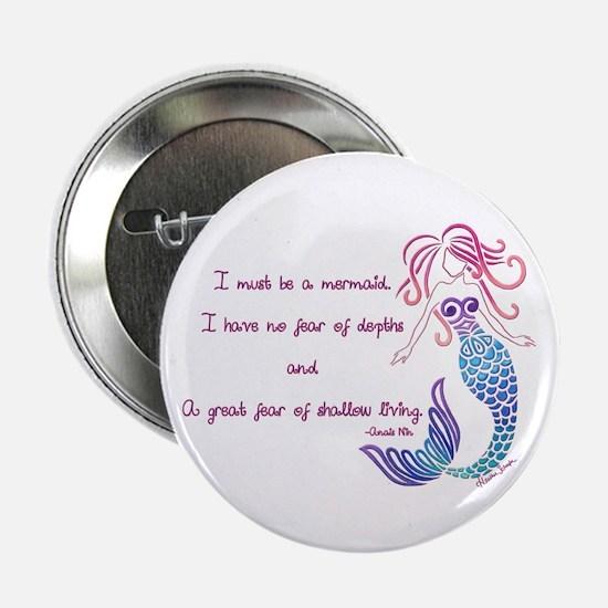 "Tribal Mermaid Musings 2.25"" Button"
