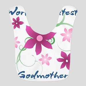 World's Greatest Godmother (Flowery) Bib