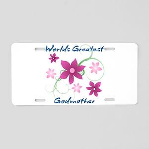 World's Greatest Godmother Aluminum License Plate