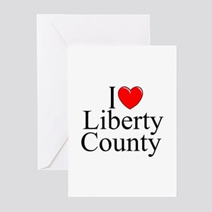 """""""I Love Liberty County"""" Greeting Cards (Package of"""