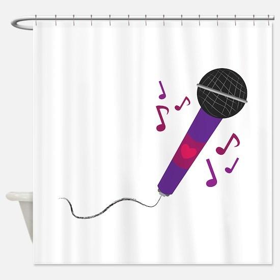 Musical Mic Shower Curtain