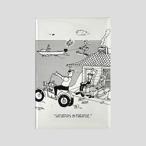 Rural Cartoon 3229 Rectangle Magnet