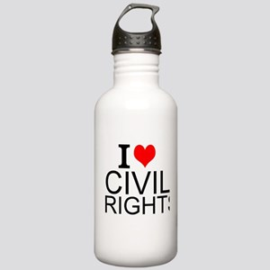 I Love Civil Rights Water Bottle