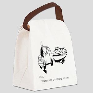 Boat Cartoon 3841 Canvas Lunch Bag