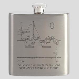 Boating Cartoon 0430 Flask