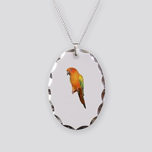 Sun Conure Necklace Oval Charm